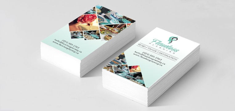 Business Card Designed for Flawless Planning Canada