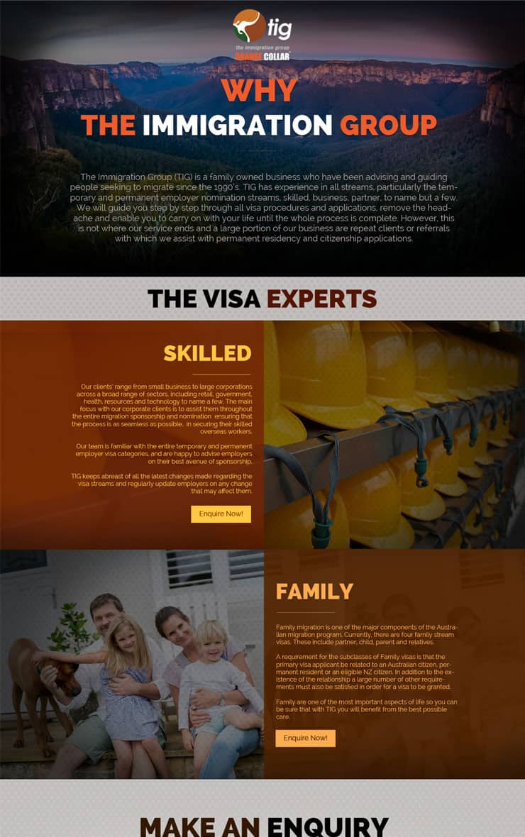 wordpress website design TIG